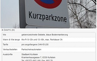 Information parking Kufstein